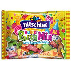 Hitschler Bunter Party Mix mit Softi Streifen Cubes und Bonbons 375g, Menge:375g