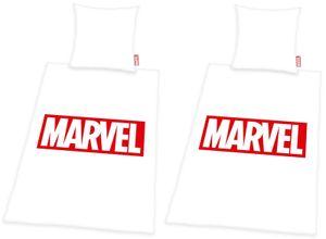 Marvel - Partner Bettwäsche von Herding, 2 x 135x200 & 80x80 cm, Avengers/Spiderman