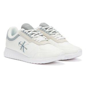 Calvin Klein Jeans Runner Lace Up Sneakers Eva Weiße Männer Turnschuhe