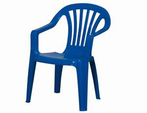 """2 Stück PROGARDEN Kinder-Stapelsessel """"Sedia Baby"""", Kinder-Gartenstuhl, Kinder-Stapelstuhl, 38 x 38 x 52 cm, in blau, aus Kunststoff"""