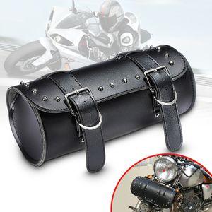 Motorrad Roll Satteltasche Werkzeugrolle Seiten Gepäckrolle Leder Universal