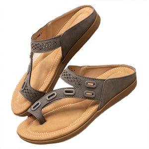 Damen Müller Schuhe flache Hausschuhe Mode Sandalen weiche Sohle Strandschuhe,Farbe: Khaki,Größe:39