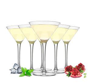 6 Martinigläser 230ml Martinigläser Martinischalen Cocktailschale Cocktailgläser