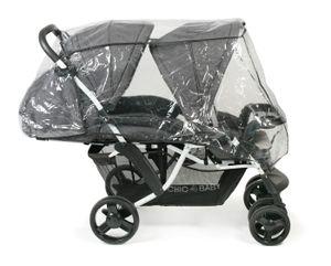 Chic 4 Baby Kinderwagen Geschwisterwagen Doppio Melange anthrazit