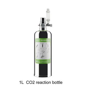 1L Aquarium CO2 Generator System Kit CO2 Edelstahl Zylinder Generator System Kohlendioxid Reaktor Kit fuer Pflanzen Aquarium