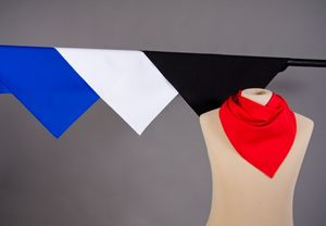 Kostüm Zubehör Dreieckstuch 105x75x75cm zu Karneval Fasching schwarz