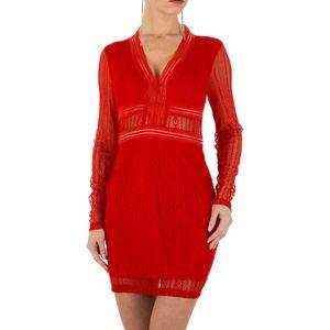 Ital-Design Damen Kleider Cocktail- & Partykleider Rot Gr.l