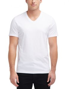 Mustang - Herren Doppelpack shirt mit V-Ausschnitt,  Regular Fit, (1006170), Größe:XXL, Farbe:general white (2045)