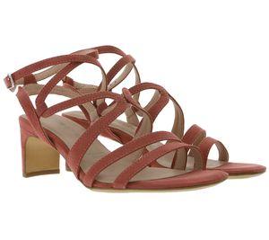 Tamaris Sandale stylische Damen Absatz-Sandaletten mit Riemchen Rot , Größe:39