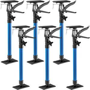 tectake 6 Türspanner, 51 bis 115cm - blau