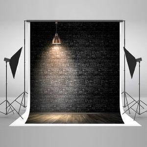 ECZJNT 150x220 cm dunkler Backstein Wall Street Lampe Foto Hintergrund Fotografie Studio Stand Hintergrund
