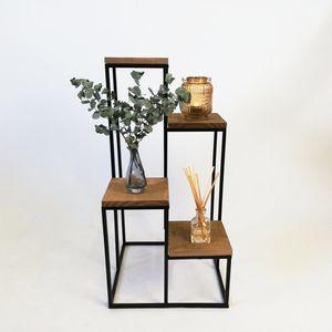 HOME STYLING COLLECTION Blumenständer aus Metall 4 EBENEN Gestell Ablagen