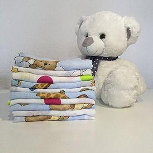 10 Stück - Stoffwindeln Stoffwindel Mullwindeln Spucktuch Spucktücher mit buntem Aufdruck für Jungen 60x80 cm  aus 100% Baumwolle