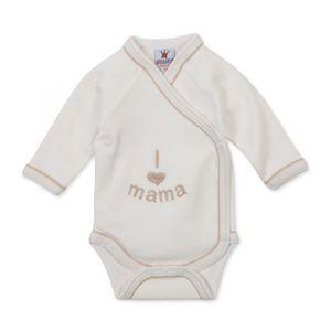 """Milarda Baby Body Wickelbody """"I love mama"""", creme, Gr. 50-62 Größe - 62"""