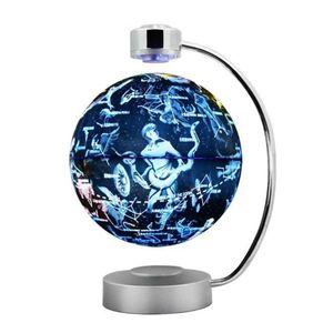 8 Zoll Magnetisch Levitation Schwimmender Globus Anti-Schwerkraft-Weltkarte Constellation Spinning Ball Nachtlicht