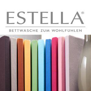 Estella Spannbetttuch, Spannbettlaken Zwirn Jersey Artikel 6900, Baumwolle, alle Farben : 90-120 x 200-220 100-weiss