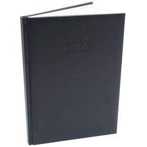 Chefplaner 2022 K|Office - ca. A4  Lederoptik Schwarz Buchkalender Termin Planer Timer
