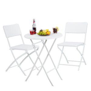 relaxdays Gartenmöbel Set BASTIAN 3-teilig
