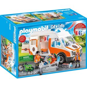 PLAYMOBIL Rettungswagen mit Licht und Sound, 70049