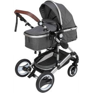 ib style® 3 in 1  Sole Kombi - Kinderwagen  Buggy Sportwagen inkl. Regen- / Insektenschutz Babyschale GRAU