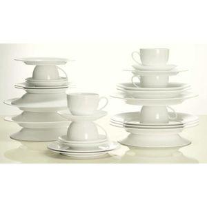MAXWELL UND WILLIAMS Kaffee- und Tafelservice Cashmere 30 tlg. weiß Porzellan Cashmere spülmaschinengeeignet