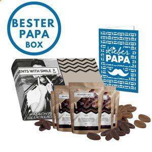 Schokolade Geschenkset für Papas - 5 Schokoladen aus aller Welt Geschenkbox | Weltreise Geschenkidee für Väter Opa Schoko Geschenke für Männer Schokoladen Box Geburtstag Schokoliebhaber