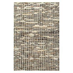 vidaXL Teppich Echtes Kuhfell 160×230 cm Schwarz/Weiß