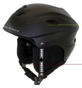 Ventura Ski-Helm Universal, matt schwarz, Gr. M (55-58 cm)