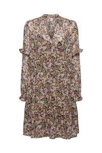 EDC Women Kleid, Farbe:KHAKI GREEN 4, Größe:34