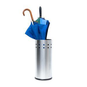 relaxdays Schirmständer aus Edelstahl mit Einleger