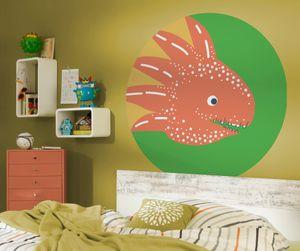"""Komar Vlies Fototapete rund und selbstklebend """"Little Dino Proto"""" - Größe: 128 x 128 cm (Breite x Höhe) - 1 Stück"""