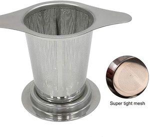 2 Stück Teesieb Sieb aus 304 Edelstahl Tee-Sieb für die Meisten Tee-Tassen mit Deckel Teefilter Teenetz