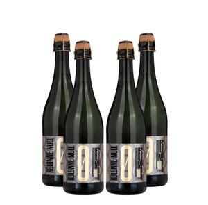 Kolonne Null - 4x 0% Alkohol - PRICKELNDER Riesling mit Korken - Alkoholfreier Riesling Prickelnd 0,75L- [Enthält Sulfite]
