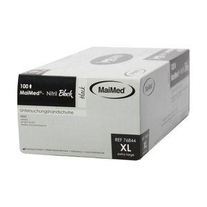 MaiMed Nitril Einweg Handschuh schwarz  puderfrei, Gr.(XL) 100er Box