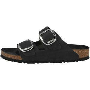 BIRKENSTOCK Arizoan Big Buckle Damen Pantoletten Black Schuhe, Größe:38