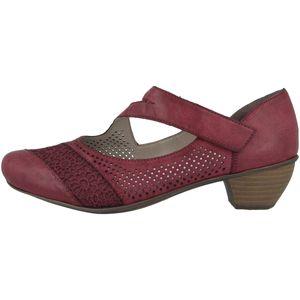 rieker Damen klassische Pumps Rot Schuhe, Größe:38