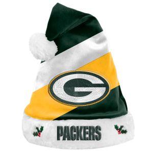 Foco NFL Green Bay Packers Basic Santa Claus Hat Weihnachtsmann Mütze