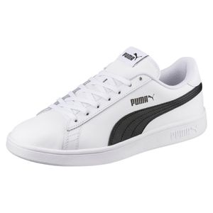 PUMA Smash v2 L Low Boot Sneaker Weiss-Schwarz Schuhe, Größe:44