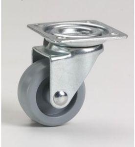 Möbellenkrolle 30x15mm,Gl, Platte 42x42 mm
