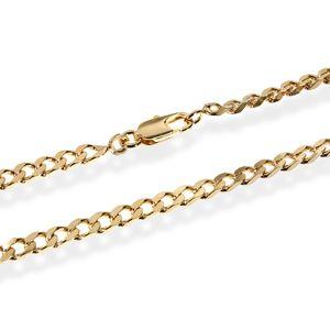ARMBAND PANZERKETTE 18cm Königskette 3,7mm Vergoldet mit 18K 750 gelb Gold 5546