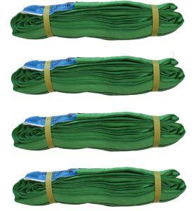 4er Set Rundschlinge 2000 kg 2 to grün 4 m Umfang Hebeband Hebeschlinge Hebegurt