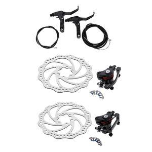 Scheibenbremsen Fahrrad Set 160 mm Bremsscheibe und vorne hinten Bremse mit BB5 Bremsbeläge