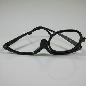Damen Schminkbrille schwarz +2,0 Lesebrille Make-up Brille Federbügel