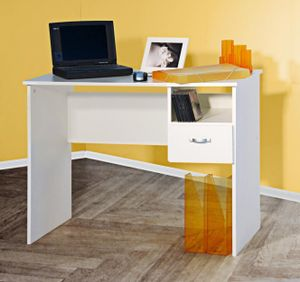 Schülerschreibtisch  Computertisch  PC-Tisch weiß weiß