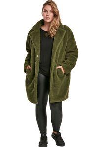 Urban Classics Damen Winterjacke Ladies Oversized Sherpa Coat Olive-3XL