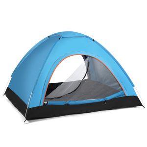 Campingzelt Automatisch Pop Wurfzelt Kuppelzelt 2-3 Personen Trekkingzelt -Blau