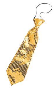 RUBIE'S Faschingsaccessoire - Pailletten Krawatte, in gold