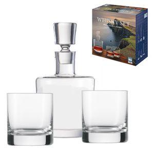 Schott Zwiesel Whiskyset 3 tlg. aus Kristallglas Karaffe + 2 Gläser im Geschenkset