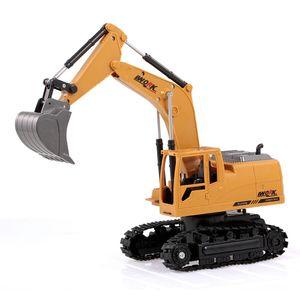 3853 1/24 8CH RC Bagger Druckguss Legierung Metall Bau Traktor 2,4 GHz Fernbedienung RC Ingenieur Lkw Auto Geburtstagsgeschenk Spielzeug