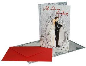 Klappkarte Alles liebe zur Hochzeit Bonnie und Clyde